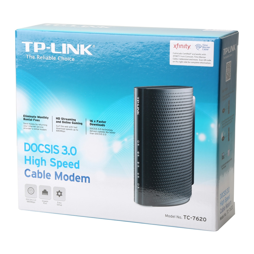 TP-LINK TC-7620 DOCSIS 3.0 High Speed Cable - Micro Center