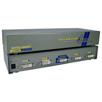 QVS Port DVI Digital Video Splitter/Distribution Amplifier with 1U Rack Mountable Case