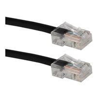 QVS CAT 5e Black Stranded Network Cable 25 Foot