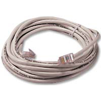 QVS CAT 5e White Stranded Network Cable 3 Foot