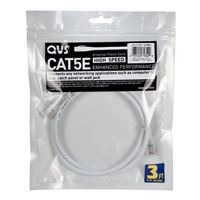 QVS CAT 5e White Stranded Network Cable 10 Foot