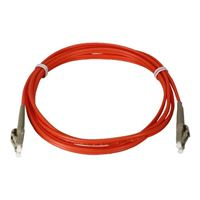 QVS LC to LC Multimode Fiber Duplex Patch Cable 6.6 Foot