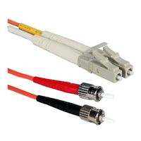 QVS LC to ST Multimode Fiber Duplex Patch Cable 6.6 Foot