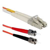 QVS LC to ST Multimode Fiber Duplex Patch Cable 9.8 Foot