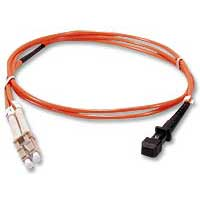 QVS MT-RJ to LC Multimode Fiber Duplex Patch Cable 3.3 ft. - Orange