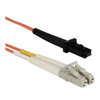 QVS MT-RJ to LC Multimode Fiber Duplex Patch Cable 6.6 ft. - Orange