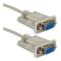 QVS Serial Null Modem Cable 6 Foot