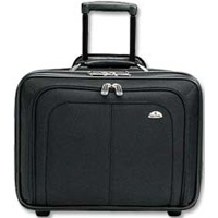 "Samsonite Business One Mobile Office Rolling Laptop Case Fits Screens up to 17"" - Black"