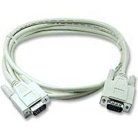 QVS VGA Male to VGA Male Shielded Cable 10 ft. - Beige