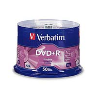 Verbatim DVD+R 16x 4.7GB/120 Minute Disc 50-Pack Spindle