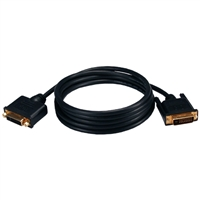 QVS DVI-D Male to DVI-I Female Ultra High Performance HDTV/Digital Flat Panel Gold Extension Cable 6.6 ft. - Black