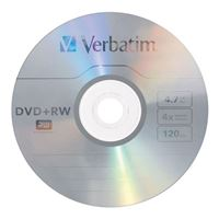 Verbatim DVD+RW 4x 4.7GB/120 Minute Disc 30-Pack Spindle
