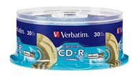 Verbatim LightScribe Gold CD-R 52x 700MB/80 Minute Disc 30-Pack Spindle