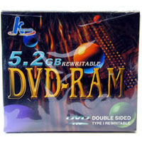 DVD-RAM 5.2GB Disc with Storage Case