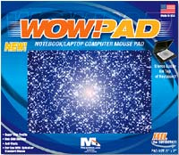 Microthin Products Wow!Pad Notebook Mouse Pad Stars