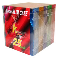 Neon Colored Slim CD Jewel Cases