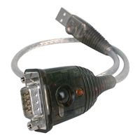 IOGear USB 1.1 (Type-A) to DB-9 RS-232 Serial Male Adapter Cable 1 ft. - Silver