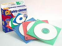 Unikeep Double Sided Multi-Color CD Safety Sleeves 50 Pack