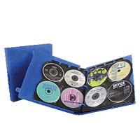 Unikeep Translucent Blue 80 Disc CD Media Binder