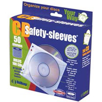 Unikeep Double Sided White Safety-Sleeves 50 Pack