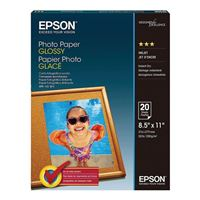 "Epson 8.5""x11"" Glossy Photo Paper 20-Sheets"
