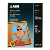 "Epson 8.5""x11"" Glossy Photo Paper 50-Sheets"
