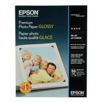 "Epson 8.5""x11"" Premium Glossy Photo Paper 50-Sheets"