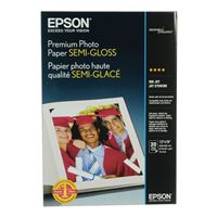 "Epson Premium Semi-Gloss Photo Paper 13""x19"" 20-Sheets"