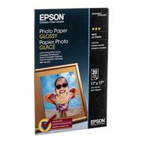 "Epson Glossy Photo Paper 11""x17"" 20-Sheets"
