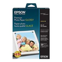 "Epson Borderless Premium Glossy Photo Paper 5""x7"" 20 Sheets"