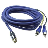 QVS Premium S-Video to Two RCA Cable