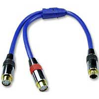 QVS 1 ft. Premium S-Video Splitter Cable