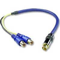 QVS 1 ft. Premium S-Video/2 x RCA Adapter