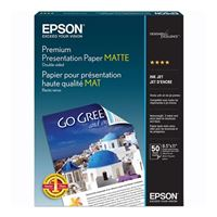 "Epson 8.5""x11"" Premium Double-Sided Presentation Paper 50-Sheets"