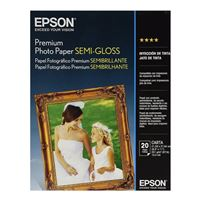"Epson 8.5""x11"" Premium Semi-Glossy Photo Paper 20-Sheets"