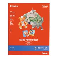 "Canon 8.5""x11"" Matte Photo Paper 50-Sheets"