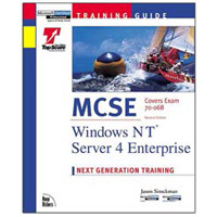 New Riders MCSE Training Guide:  Windows NT Server 4 Enterprise