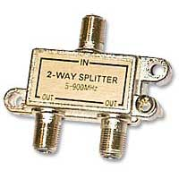 GE 2-Way Coaxial Signal Splitter