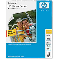 "HP 8.5""x11"" Advanced Glossy Photo Paper 25-Sheets"
