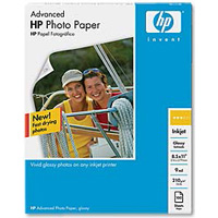 "HP 8.5""x11"" Advanced Glossy Photo Paper 100-Sheets"