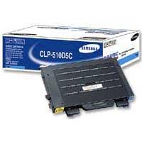 Samsung CLP-510D5C High-Yield Cyan Laser Toner Cartridge
