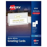 Greeting cards amp envelopes paper office supplies avery half fold greeting cards m4hsunfo