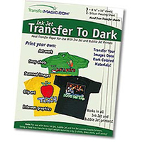 TransferMagic Dark T-Shirt Iron-On Transfers