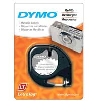 Dymo LetraTag Silver Matallic Tape