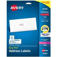 Avery 18160 Ink Jet Address and Shipping Labels