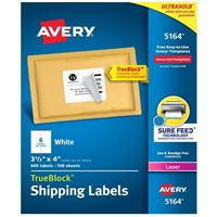 Avery 5164 Laser White Address and Shipping Labels