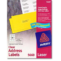 Avery Laser Clear Address and Shipping Labels