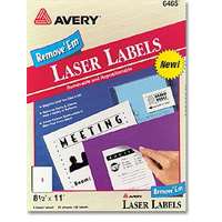 Avery 6465 Removable Laser Multi-Purpose Labels