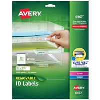 Avery 6467 Removable Laser Multi-Purpose Labels