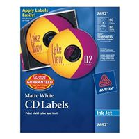 Avery 8692 CD/DVD InkJet Labels